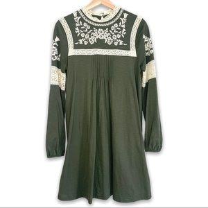 Top Shop Embroidered Smock Dress